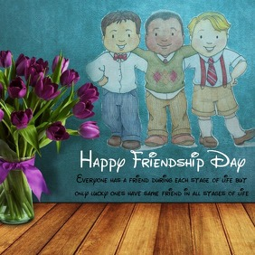 Friendship Day Template Instagram-bericht