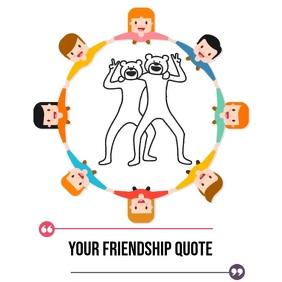 FRIENDSHIP QUOTE ONLINE SOCIAL MEDIA TEMPLATE Cuadrado (1:1)
