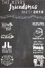 Friendsmas Party Backdrop