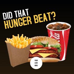 Fries, burger and Coke