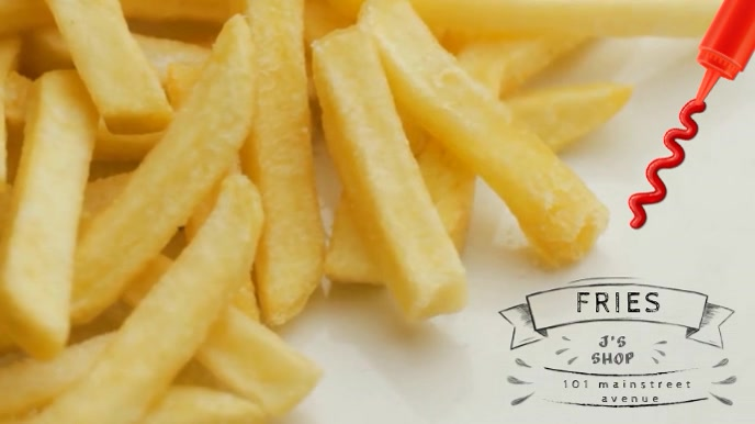FRIES SHOP PROMO TEMPLATE