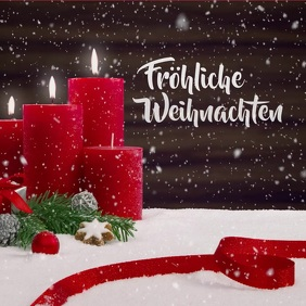 Frohe Weihnachten Video Merry christmas Card