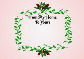 From My Home To Yours Postcard