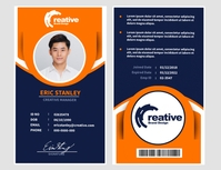 Front and Back ID Template Flyer (US Letter)