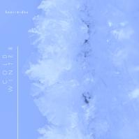 Frost Winter Cold Blue CD Cover Music Portada de Álbum template