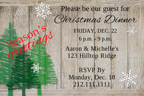 Frosted Barn Door Invite