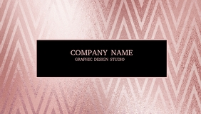 Frosty Pink Chevron Business Card