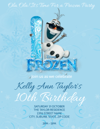 Frozen 2 Olaf Party Invitation Template