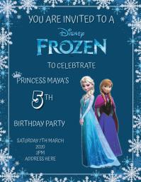Frozen Birthday Flyer