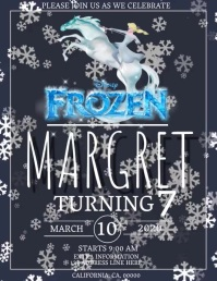 FROZEN BIRTHDAY Flyer DIGITAL Template