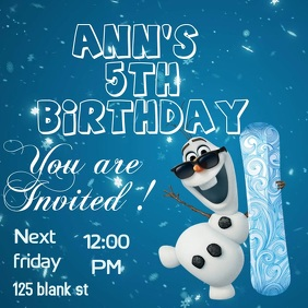 Frozen Birthday Invitation Card