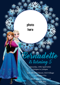Frozen Birthday Invitation A4 template