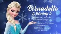 Frozen Birthday Invitation Видеообложка профиля Facebook (16:9) template