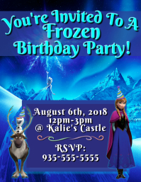 Customizable design templates for frozen birthday invitation frozen birthday invitation stopboris Gallery