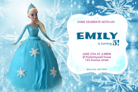 Customizable design templates for frozen birthday invitation frozen birthday invitation pronofoot35fo Gallery