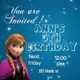 frozen birthday invitation template Square (1:1)