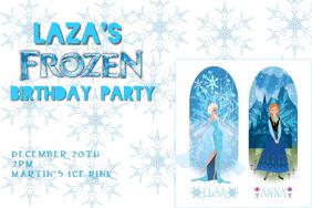 frozen birthday invitation template