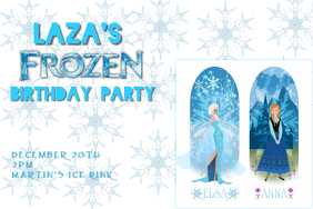 Customizable Design Templates For Frozen Birthday Invitation - Party invitation template: frozen birthday party invitation template