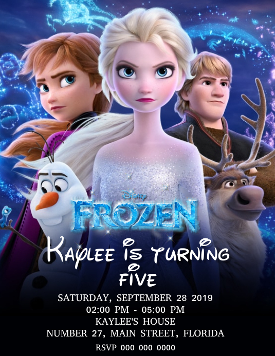 Frozen Birthday Party Invitation Template