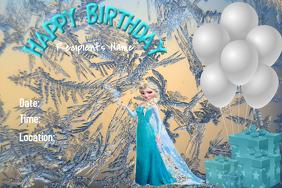 Frozen Birthday Theme Template