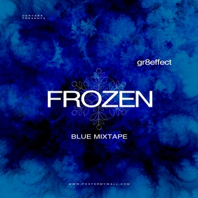 Frozen Blue Mixtape Music CD Cover