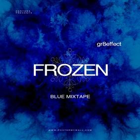 Frozen Blue Mixtape Music CD Cover template