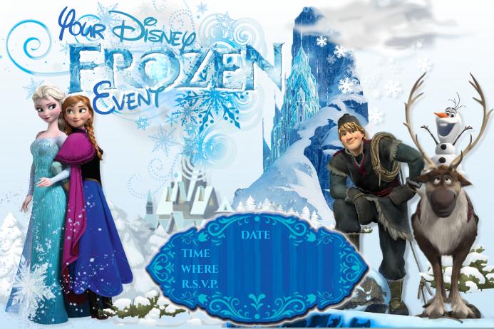 4 960 customizable design templates for frozen birthday invitation