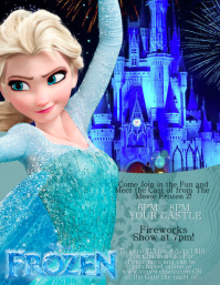 Frozen Character Appearance Flyer Template