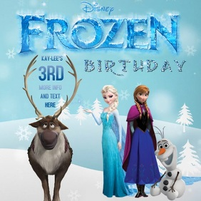 FROZEN DISNEY BIRTHDAY DIGITAL TEMPLATE VIDEO