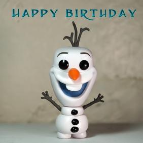 Frozen Happy Birthday Instagram-bericht template
