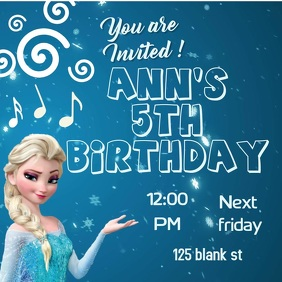 6330 Customizable Design Templates For Frozen Birthday Invitation