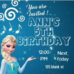 8110 Frozen Birthday Invitation Customizable Design Templates