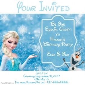 frozen themed invites