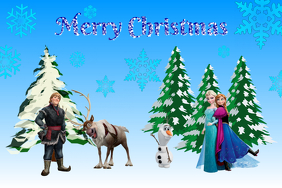 frozen merry christmas