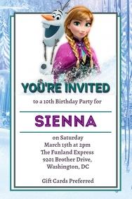 Frozen Party Invitation