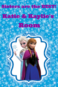 Frozen Room Poster Sisters / Disney