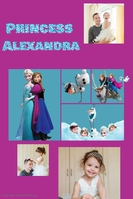Frozen Princess Family Girl Collage Poster Flyer Invitation