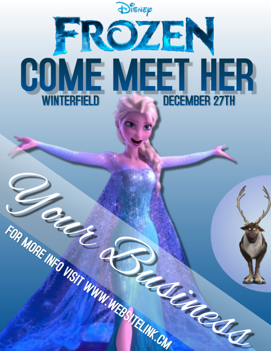 FROZEN TWO 2 character appearance elsa Template | PosterMyWall on