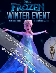 FROZEN TWO 2 VIDEO FLYER POSTER TEMPLATE