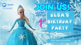 Frozen virtual birthday party