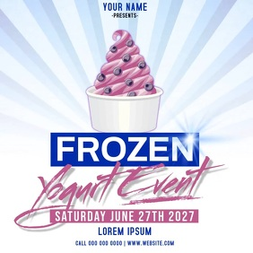 FROZEN YOGURT event ad instagram