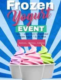 Frozen Yogurt Flyer Template