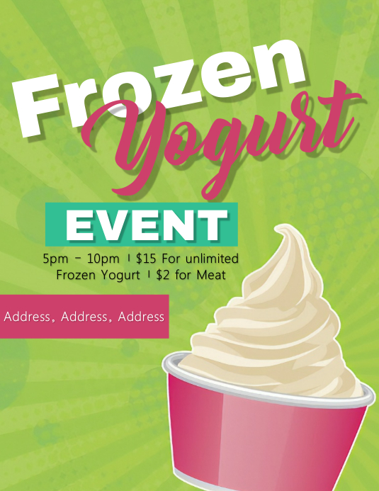 Frozen Yogurt Flyer Template