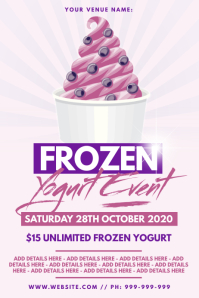 Frozen Yogurt Poster โปสเตอร์ template