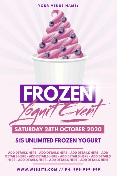 Frozen Yogurt Poster template