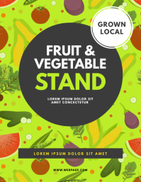 Fruit & Vegetable Stand Flyer Template