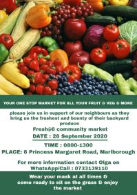 Fruit and veg flyer A4 template