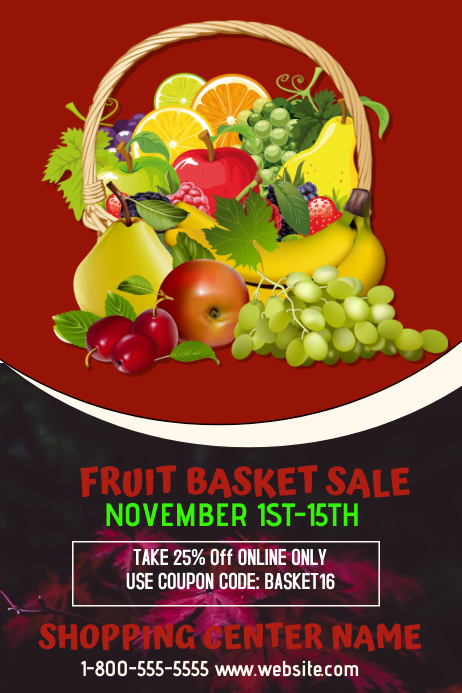 fruit basket sale template postermywall