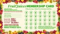 Fruit Juice Membership Card 2021 Template Kartu Bisnis