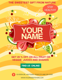 FRUIT JUICE SHAKES BAR AD Flyer template